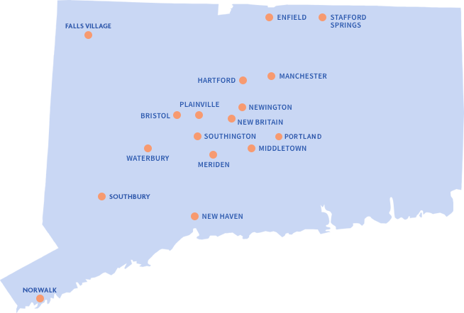 Map of Wheeler Locations